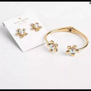 Kate Spade Sunset Blooms Earrings Bracelet SET New